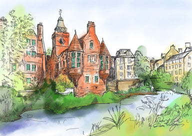 Water Of Leith & Dean Village Matte Art Print