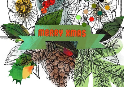 Motley Blooms - Merry Xmas Greeting Card