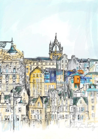 Old Town & St Giles Matte Art Print