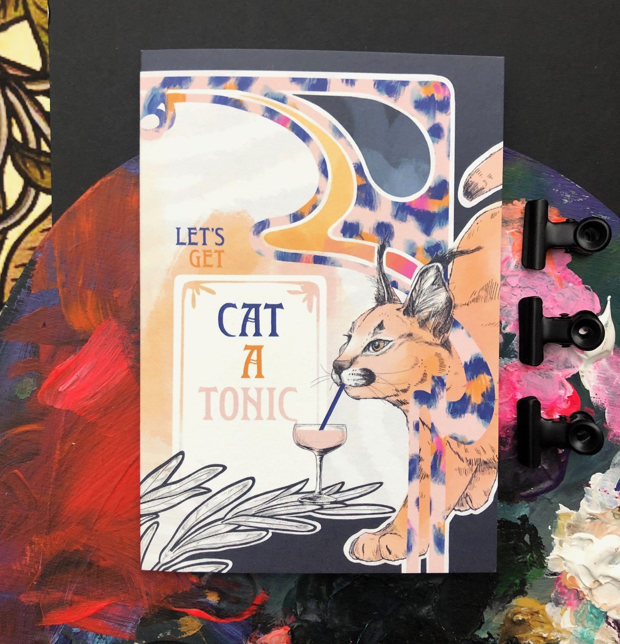 Cat A Tonic Greeting Card