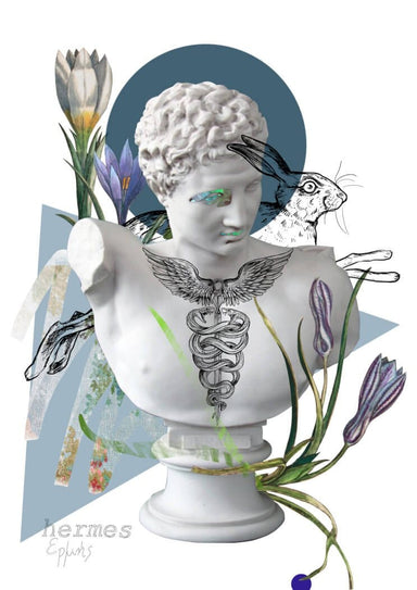 This image contains Head,Forehead,Illustration,Sculpture,Plant,Flower