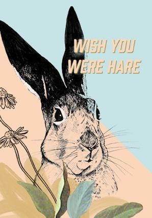 You Were Hare Greeting Card