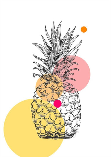 Pop Pineapple Matte Art Print