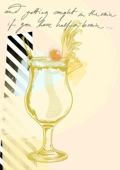 Piña Colada Greeting Card