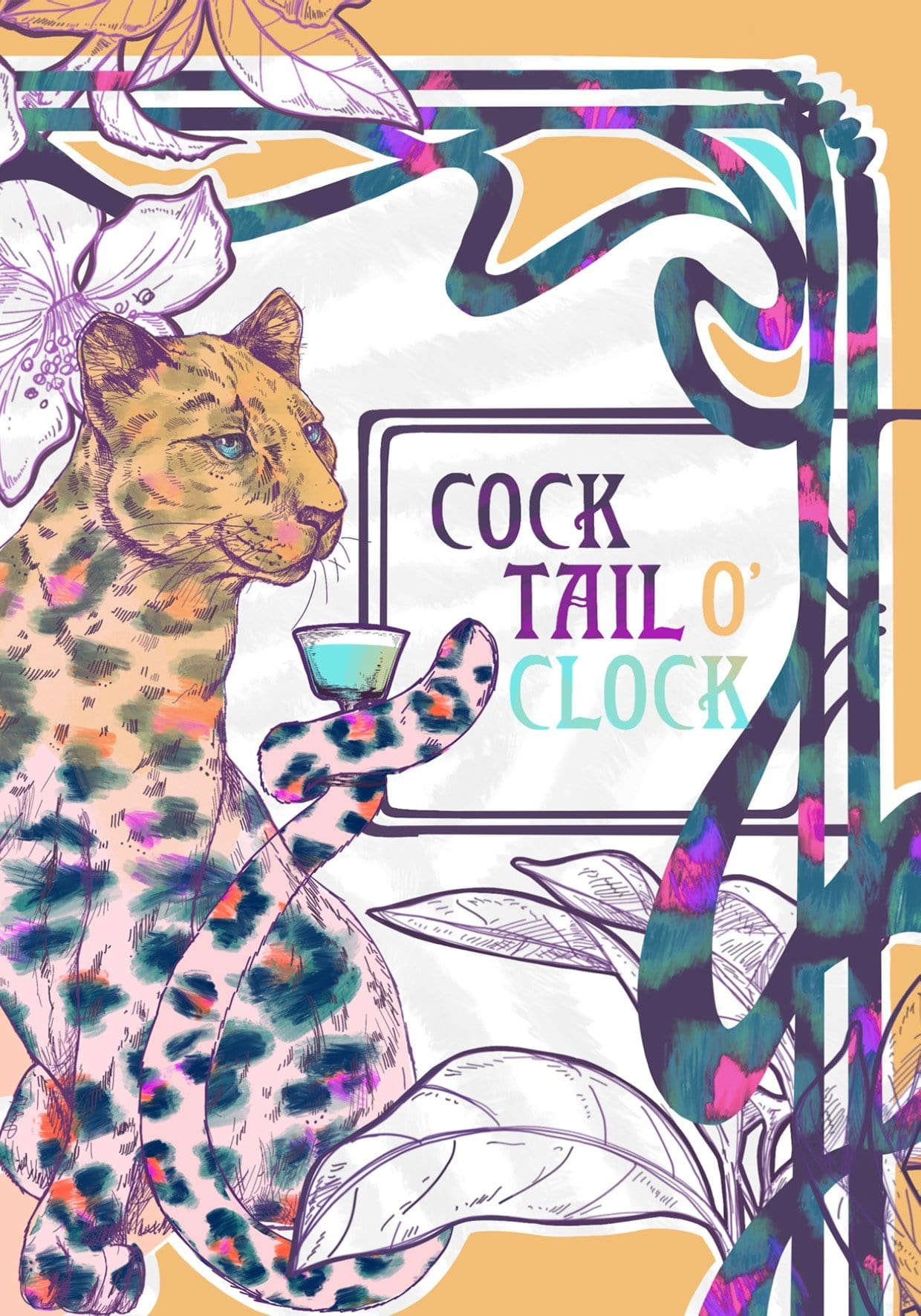 Cocktail Oclock Greeting Card