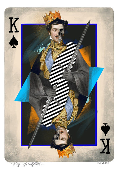 King Of Spades Matte Art Print