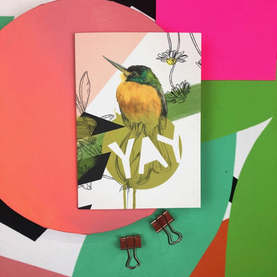 Blue-cheeked jacamar - Yay Greeting Card