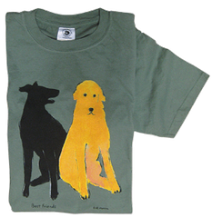 "Shirt Labrador and Golden Retriever ""Best Friends"""