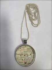 Lititz Map Necklaces