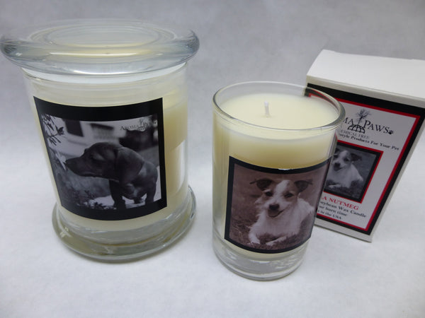 Soy Candles with breed pictures
