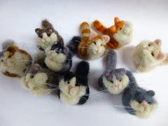 "Needle felted Cats ""Fat Cats"""