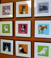 framed artwork by Paper Russells original animals