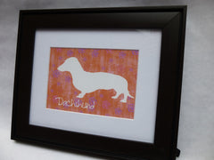 Dachshund Framed Silhouette Artwork