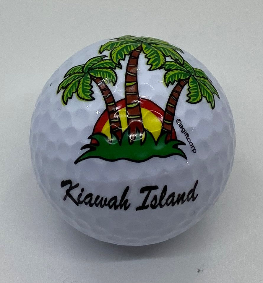 KI Palm Tree Golf Ball
