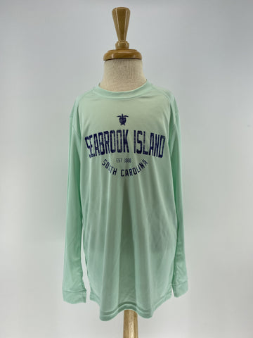 SI Youth Performance UPF 50+ LS Tee - Mint