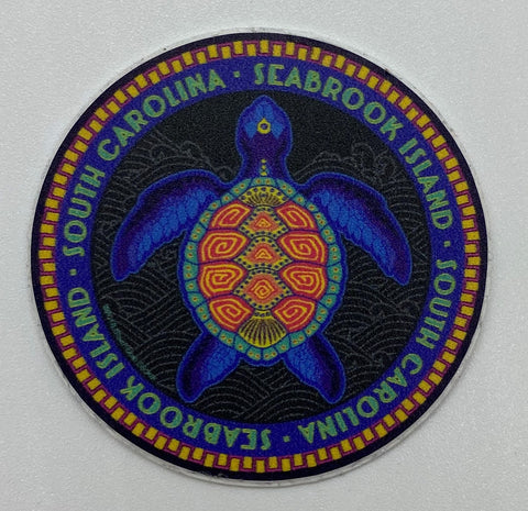 SI Neon Turtle Mini Sticker