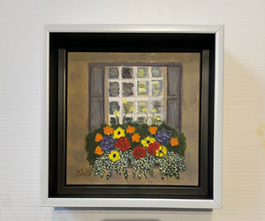 """Legare Street Flowers"" Oil on Linen 6x6"