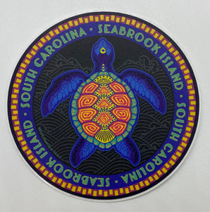 SI Neon Turtle Sticker