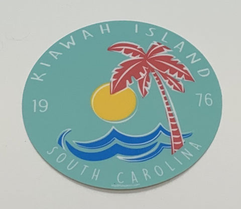 KI Zelena Palm Wave Decal