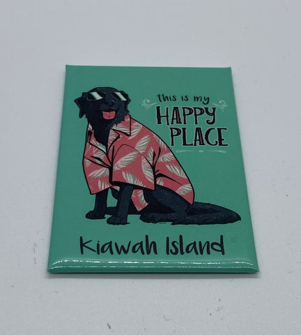 KI Happy Beach Dog Magnet