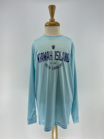 KI Youth Performance UPF 50+ LS Tee - Aqua