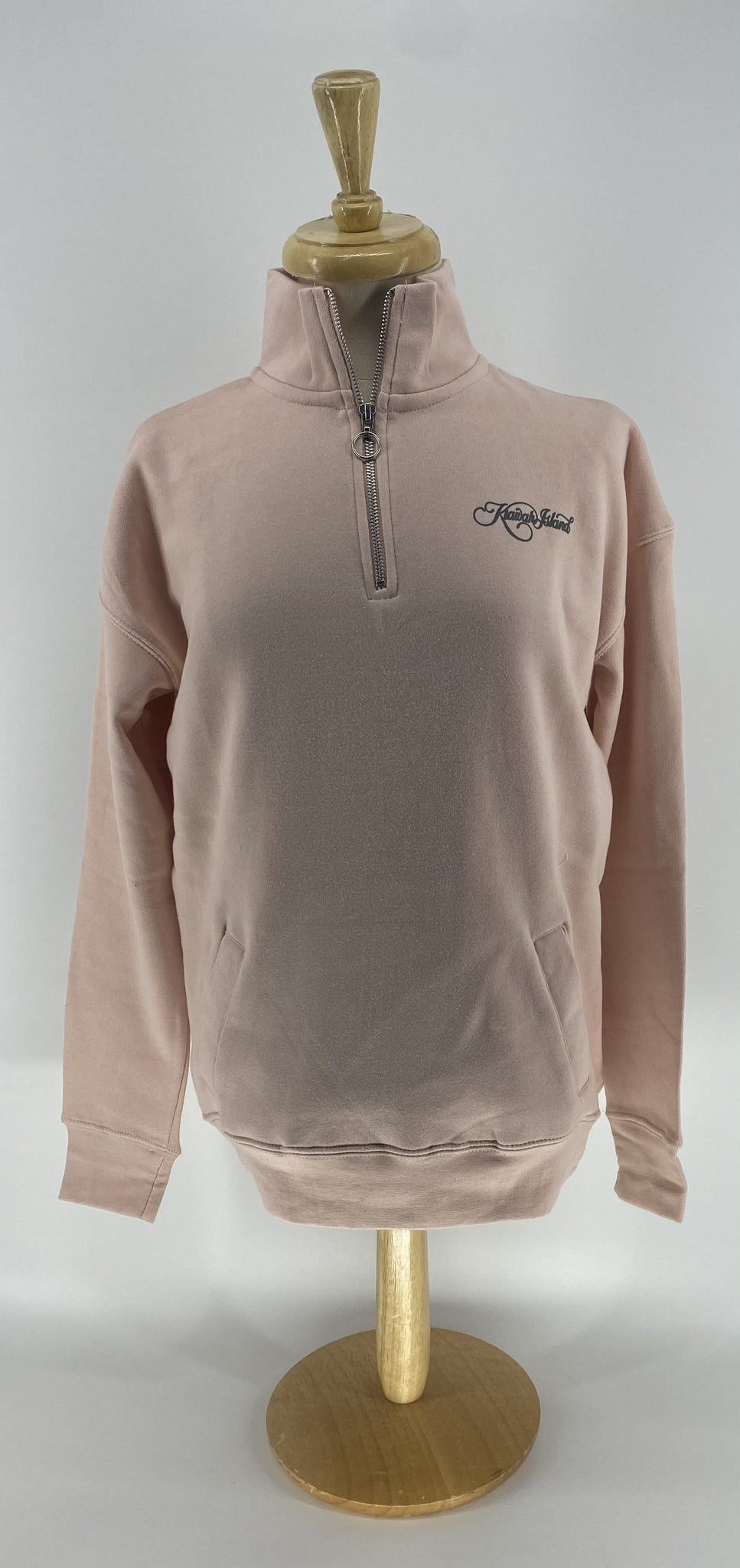 KI Ladies Dakota Qtr Zip Pullover - Cameo Pink