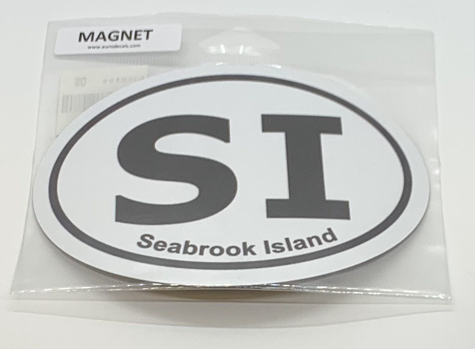 SI Oval Car Magnet