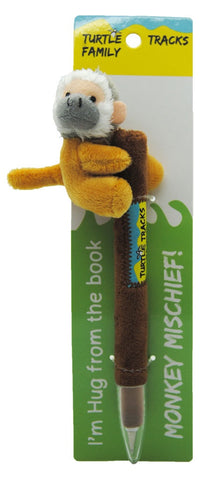 "Monkey Plush Pen ""Hug"""