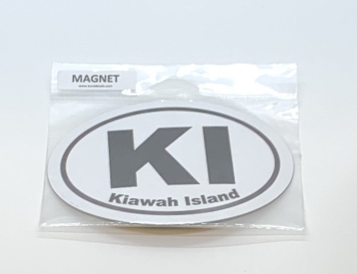 KI Oval Car Magnet
