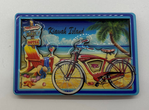 KI Bicycle Beach MDF Magnet