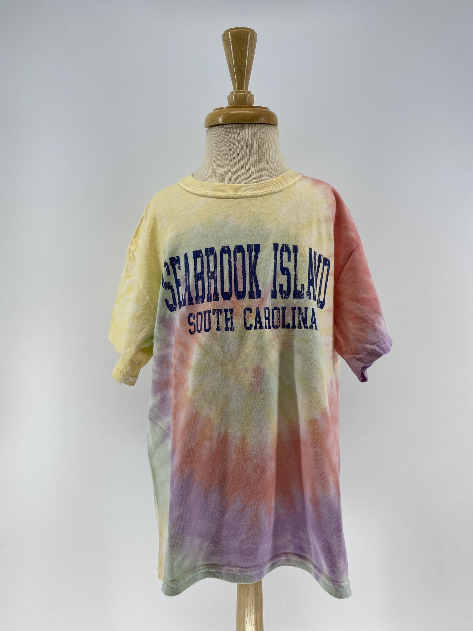 SI Youth Tie Dye SS Tee - College Block - Rainbow