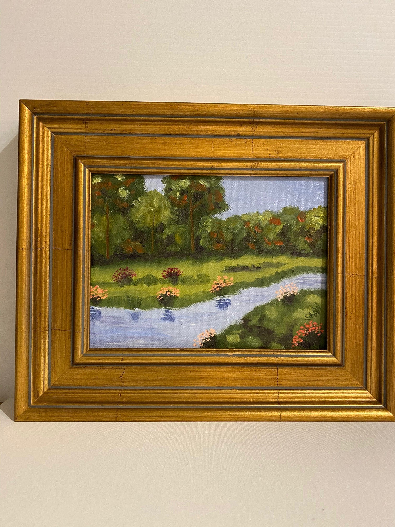 """Lazy River"" Oil on Canvas 6x8"