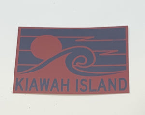 KI Small Chunk Wave Sun Decal