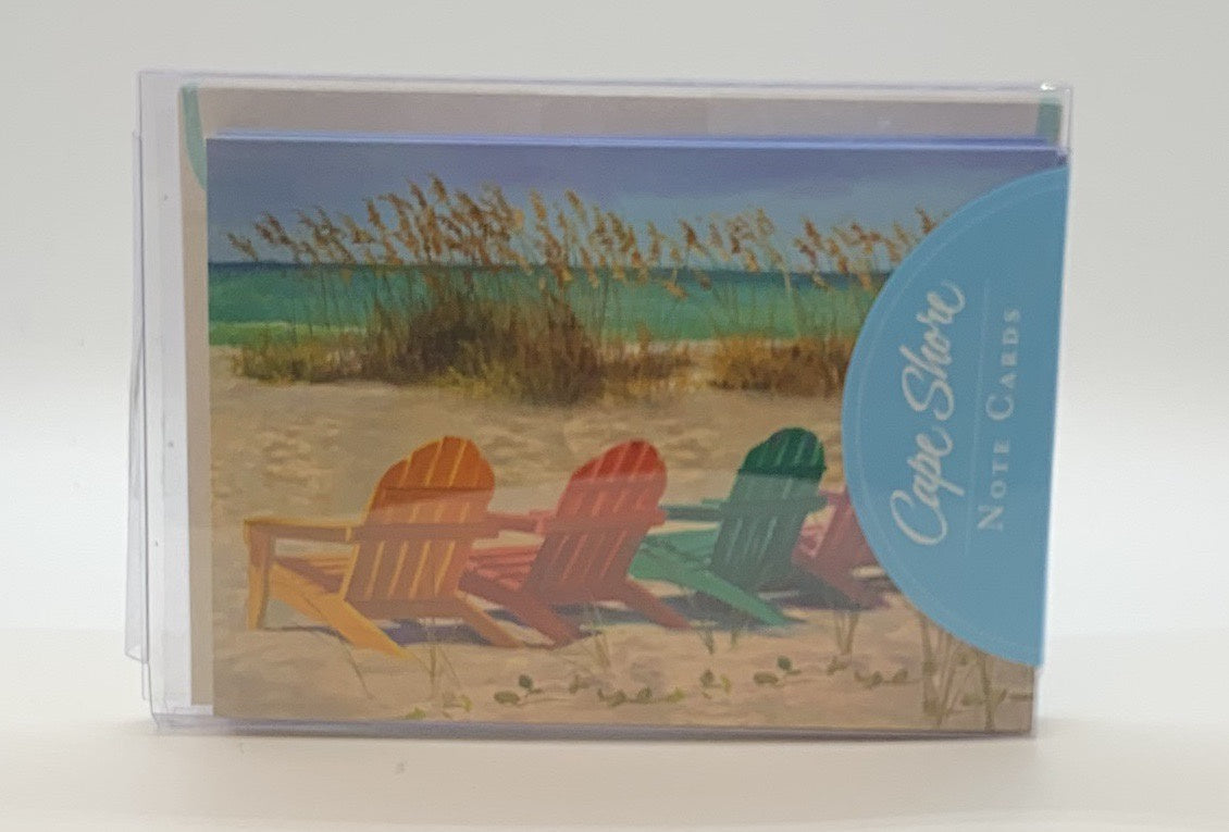 Boxed Notes - Colorful Adirondack Chairs