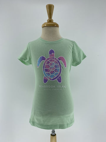 SI Girls CVC Tee - Kaleidoscope Turtle