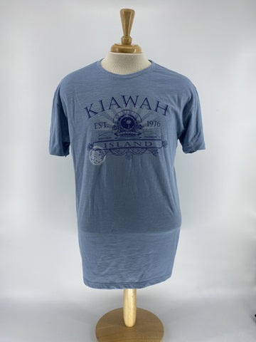 KI Men's Slub Tee - Palm/Moon Century