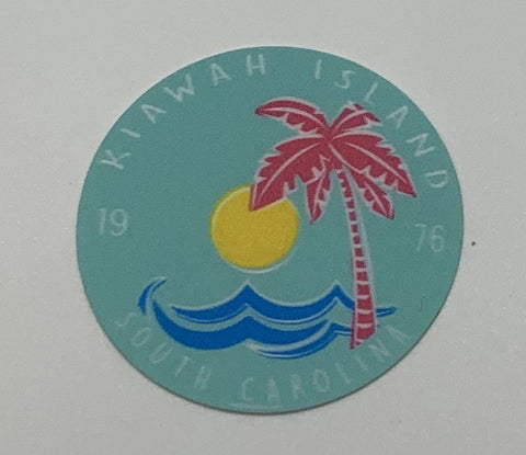 KI Zelena Palm Wave Mini Decal