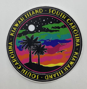 KI Colored Cloud Palms Sticker