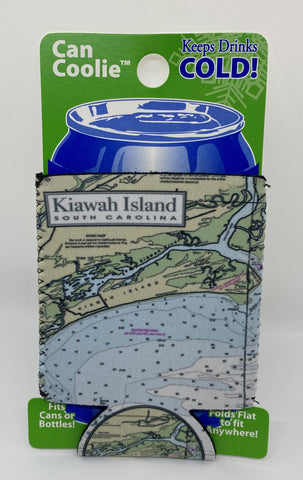 KI Nautical Chart Can Cooler