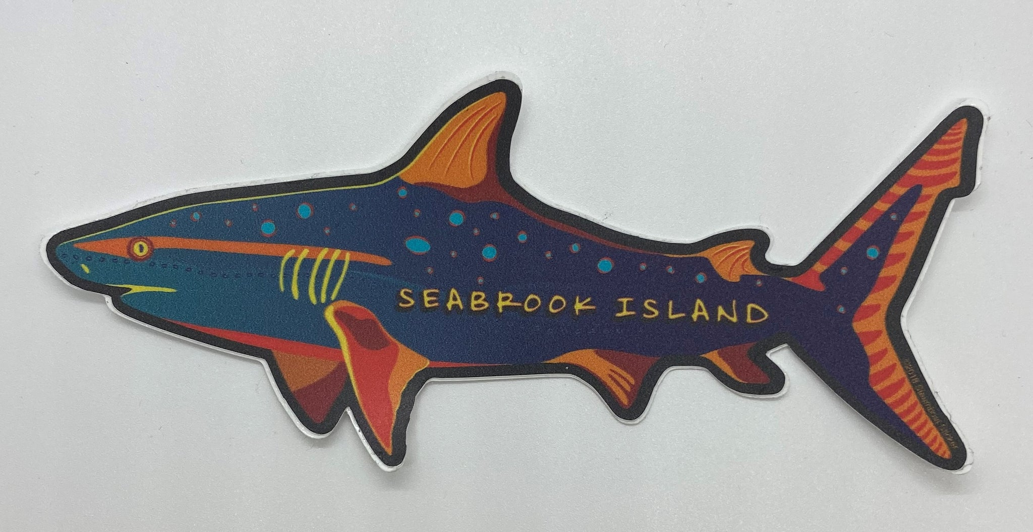 SI Neon Shark Sticker