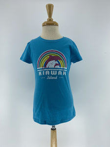 KI Girls Cap Tee - Rainbow Dream Dolphin