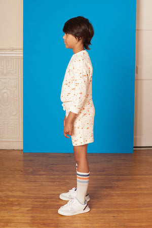 Crew Sweat Short - Comet Dots