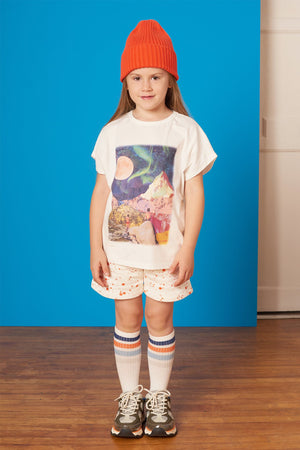 Collage Tee - Star Gazing - White