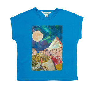 Postcard Tee - Star Gazing - Vivid Blue