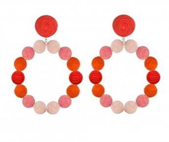 Silk Ombre Sardegna Hoop Earrings