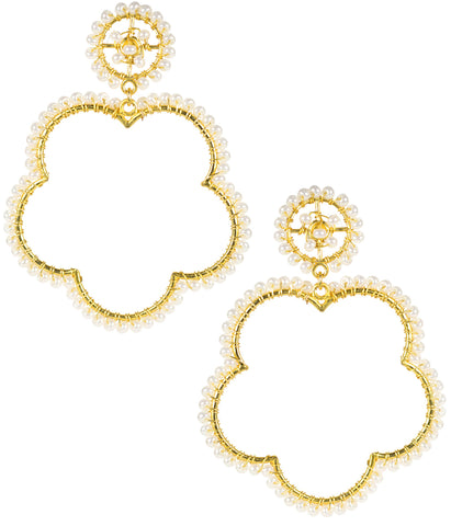 Bobbi Earrings- Pearl