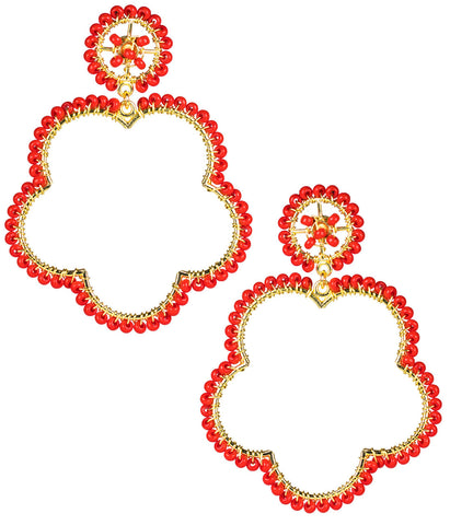 Bobbi Earrings- Red