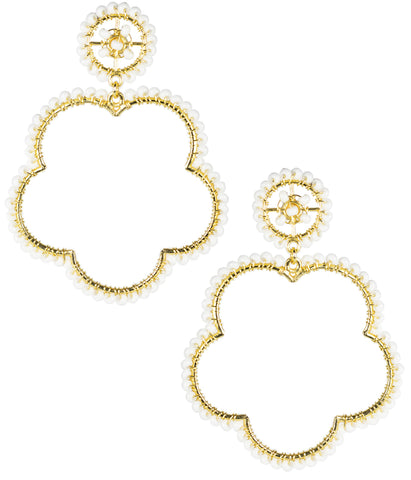 Bobbi Earrings- White