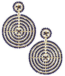 Disk Earrings- Navy