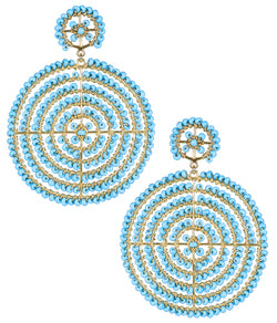 Disk Earrings- Turquoise